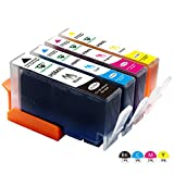 Supricolor 4 color replacement HP 564 High Yield Ink Cartridge (1 Black 1 Cyan 1 Magenta 1 Yellow) 4 Pack Compatible with HP Photosmart 5520 6520 6510 7510 7520 7515 C6380 C310a