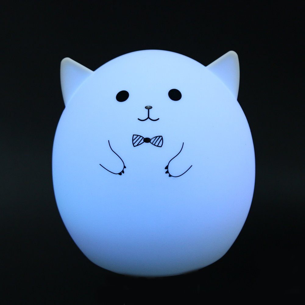 MKChung Mini LED Night Light, Cute Animal Shape Silicone Decompression Lamp for Student Kid Gift (Colorful)(Style 1) by MKChung (Image #8)