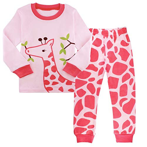 - AmberEft 3T Pajamas for Girls Kid Deer Clothes Toddler PJs Sets Long Sleeve Sleepwear