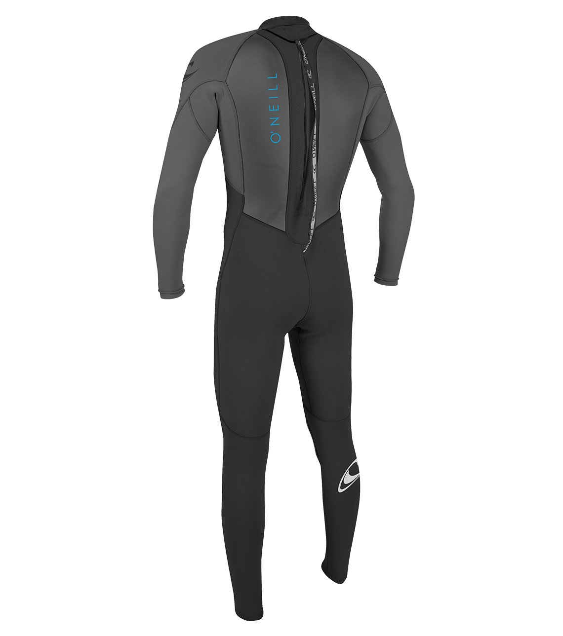 O'Neill Youth Reactor-2 3/2mm Back Zip Full Wetsuit, Black/Graphite, 6 by O'Neill Wetsuits (Image #3)