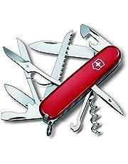 Victorinox 13713B1 scyzoryk Huntsman (15 funkcji, nożyczki, piła do drewna, korkociąg, otwieracz do butelek, izolator drutu), czerwony