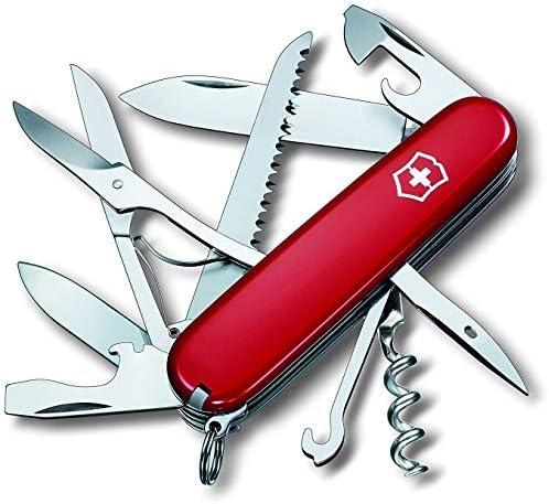 Victorinox Huntsman 13713B1 - Cuchillo (9,1 cm, 2,7 cm, 107g, Acero inoxidable, Rojo, Acero inoxidable): Amazon.es: Bricolaje y herramientas