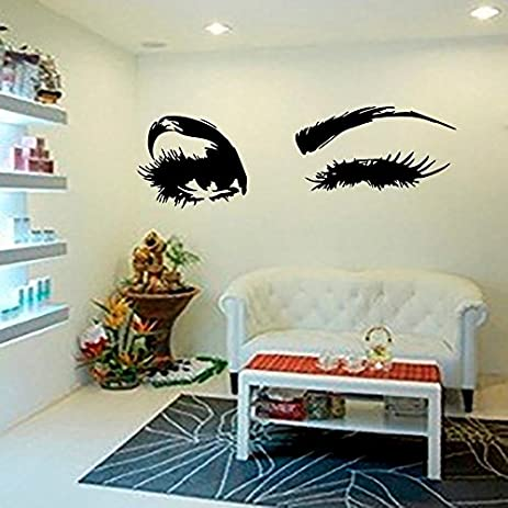Wall Decal Beautiful Big Eye Lashes Home Decoratoin Vinyl Bedroom Art Decor  Wall Sticker Women Beautiful
