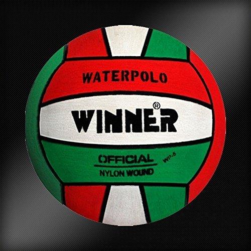 Ganador balón de Waterpolo. Red-White-Green diseño. Tamaño 5 ...