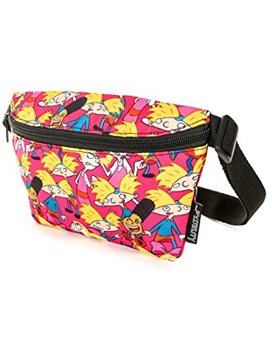 FYDELITY- Ultra-Slim Fanny Pack: NICK Nickelodeon 90's Hey Arnold! Pink ()