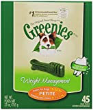 GREENIES Weight Management Dental Chews Petite Dog Treats – Treat TUB-PAK Package 27 oz. 45 Treats For Sale