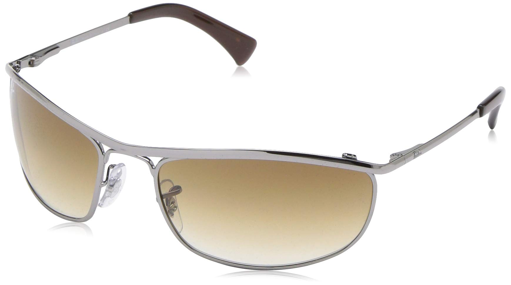 RAY-BAN RB3119 Olympian Wrapped Rectangular Sunglasses, Gunmetal/Brown Gradient, 62 mm by RAY-BAN