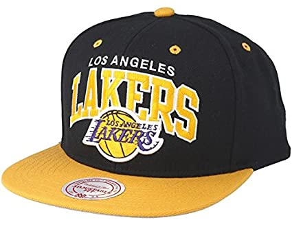 bef51fa0355e8b Image Unavailable. Image not available for. Colour: Mitchell & Ness LA  Lakers Team Arch Black/Yellow Snapback