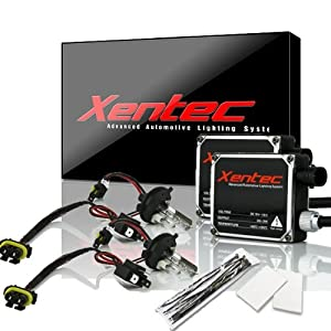 XENTEC H4 6000K Hi/Lo HID Conversion Kit w/Hi-beam Halogen (HB2/9003 Ultra White)