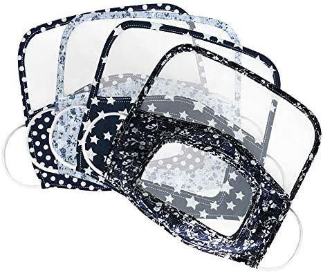 JSPOYOU Man Women Protective FaceEyes Shield With Clear Window Visible