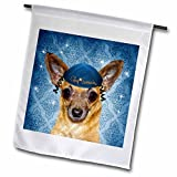 Doreen Erhardt Hanukkah Collection - Chihuahua in a Yarmulke for Chanukah Funny Dog in Blue - 12 x 18 inch Garden Flag (fl_244710_1)