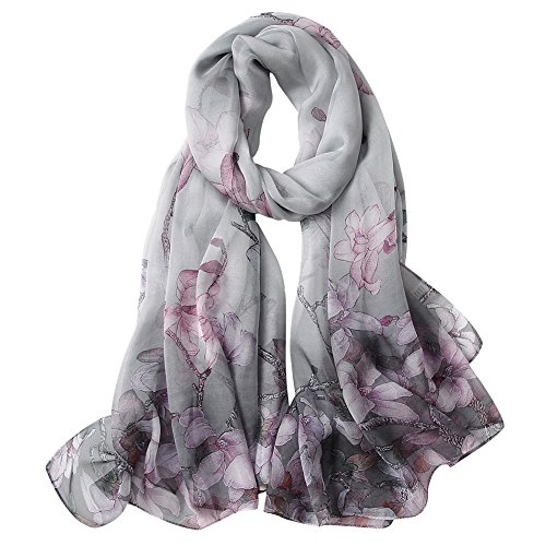 STORY OF SHANGHAI Womens 100% Mulberry Silk Head Scarf For Hair Ladies Silk Scarf Gift for Valentine's Day (Dress Silk Natural)