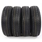 Set of 4 ST225/75R15 ST225/75-15 Radial Trailer Tires 8PR Load Range D