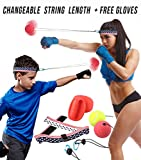 Boxing Reflex Fight Ball - Improves Focus, Reaction Time, Hand Eye Coordination - Birthday Gift for Kids, Boys, Girls, Men and Women - Fun Speed Training Sport Indoor Home Equipment Kit Game Activity