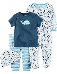"""Carter's Baby Boys' """"Whale of a Time"""" 4-Piece Layette Set"""