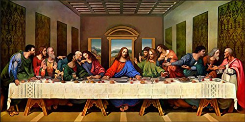 ZHENC 5D Diy Full Square Diamond Painting Drawing Crafts The Last Supper Embroidery Needlework Full Drill Decor Cross Stitch Kits