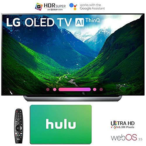 LG Electronics 4K Ultra HD Smart OLED TV 4K HDR AI Smart TV with Hulu $100 Gift Card (55″ OLED55C8)