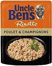UNCLE BEN'S Risotto Poulet et Champignons - Express 3 min au micro-onde ou à la poêle - 250 g