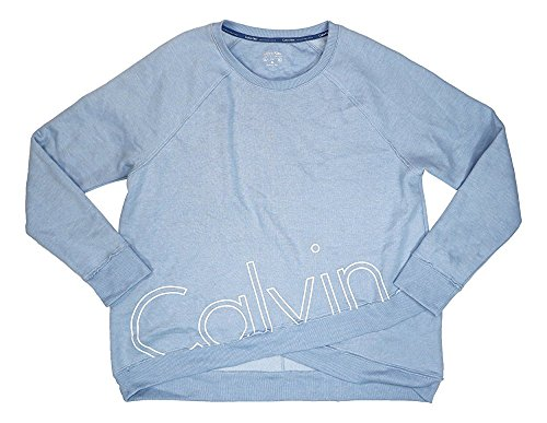Calvin Klein Performance Women's Logo Print Sweatshirt (Light Blue, XL)
