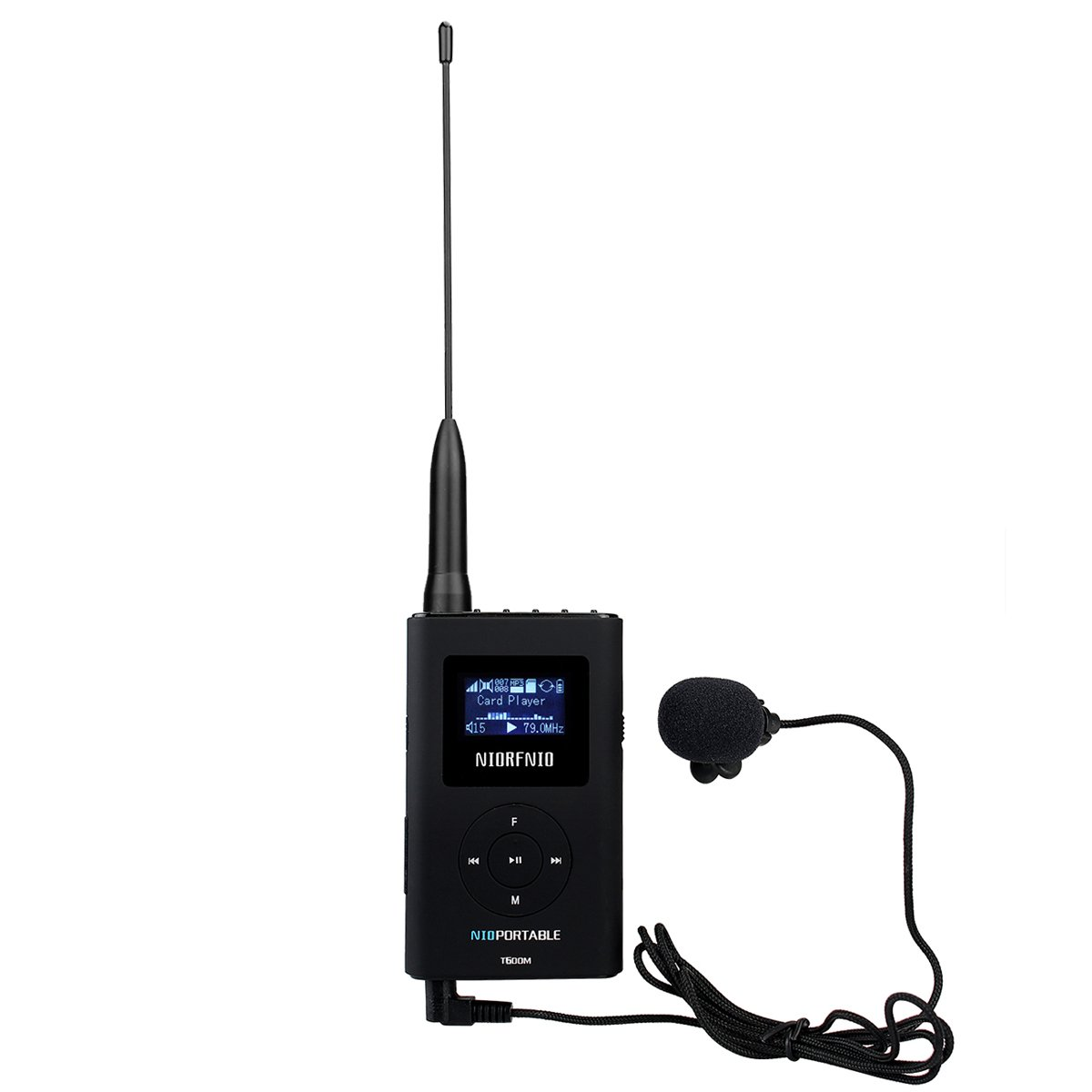 Retekess T600M 0.6W Portable FM Transmitter 76MHz-108MHz Tour Guide System For Church Translation with 8GB Memory Card