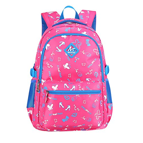 Macbag School Backpack Casual Daypack Travel Outdoor Camouflage Backpack for Boys and Girls (Rosy 2) -