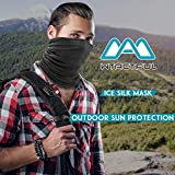 WTACTFUL 2 Pack Lightweight Neck Gaiter Neck Warmer Face Mask Windproof Anti-UV Protection Cover for Motorcycle Cycling Fishing Hunting Summer Outdoor Sports Suitable for Men Women 2 Pack of Black