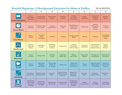 Beautiful Beginning: A Developmental Curriculum for Infants and Toddlers (STICKERS) (Set of 4)