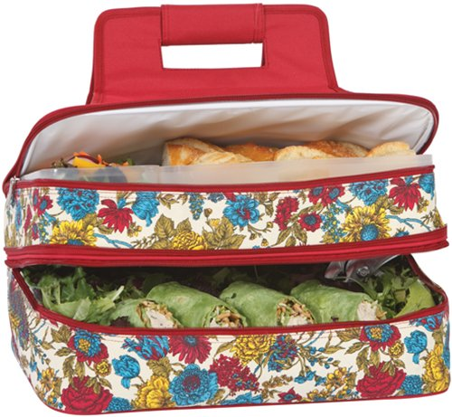 ner Hot & Cold Pot Luck Food Casserole Carrier 2 levels Thermal Insulated ()