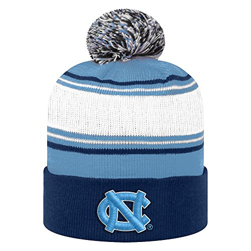 World North Carolina Tar Heels - Top of the World NCAA North Carolina Tar Heels Men's Elite Fan Shop Winter Knit Ambient Warm Hat, Light Blue