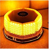 FidgetFidget Rooftop 240 LED Flash Warning Strobe Rotating Round Beacon Emergency Light Amber