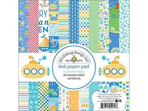 "Doodlebug Anchors Aweigh Paper Pad, 6 x 6"""