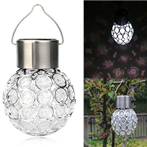 Boddenly Multicolor Garden Decoration Lights, Waterproof Solar Rotatable Outdoor Garden Camping Hanging LED Light Lamp Bulb(white light) (Pepper 6mm Chili)