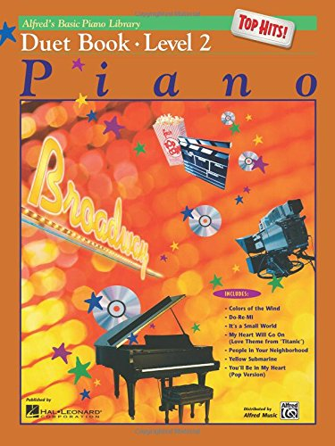 - Alfred's Basic Piano Library Top Hits! Duet Book, Bk 2