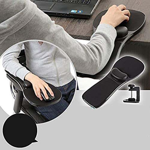 Wrist Rest of Ergonomic Adjustable Armrest, Hands Arm Support Bracket Pallet Rack Console Wrist Rest Computer Mouse Pad Wrist Pad Chair, for Home& Office -by NszzJixo9 (Black)