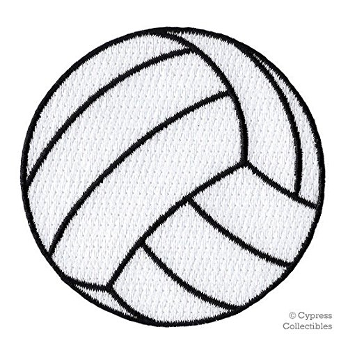 EMBROIDERED VOLLEYBALL PATCH - new IRON-ON APPLIQUE SPORTS BEACH VOLLEY BALL ()