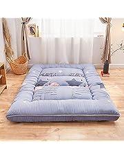 KOKIN futonmadrasser, tjockare futon, mjuk, vikbar, bärbar madrass, dubbel, enkel, japanska futoner, japansk tatami-rullmatta, vikbar madrass, tjockare 4/B/90 x 200cm