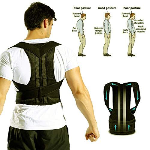 - Wiitek Full Back Posture Corrector Back Support Belts Shoulder Brace Spinal Brace Straightener Improve Bad Posture Spine Posture Kyphosis Scoliosis Humpback for Men&Women&Kids(XXXXL:Waist: 41