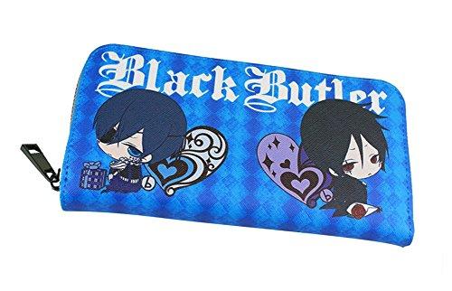 Gumstyle Black Butler Anime Cosplay Zipper Wallet Long Clutch Purse Card Holder