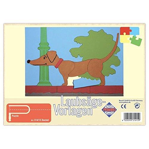 Matches21 Dackel Hund Holz Laubsägevorlage Din A4 Puzzle Holzvorlage
