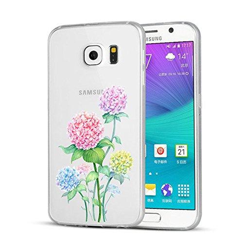 Funda Galaxy S6,Vanki® Carcasa Cubierta TPU Silicona Goma Suave Case Protection y Premium Clarity Cover Ultra Fino Anti-Arañazos para Samsung Galaxy S6-diseño original D