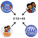 Kids JW.ORG Buttons Jehovah's Witnesses Button