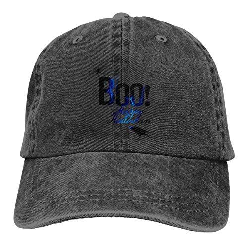 Boo Happy Halloween Free Printable Baseball Cap Men Women - Cotton Made Classic Adjustable Plain Hat Black