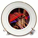3dRose Alexis Photography - Objects - Golden age technologies - Hand knitting loom. Stylized photo - 8 inch Porcelain Plate (cp_270871_1)