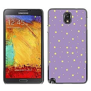 Planetar® ( Stars Purple Yellow Night Sky Wallpaper ) SAMSUNG Galaxy Note 3 III / N9000 / N9005 Fundas Cover Cubre Hard Case Cover