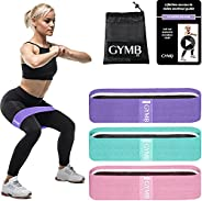 3 Fabric Resistance Bands for Legs and Butt, Loop Exercise Bands, Booty Workout Bands for Women, Glute Bands,