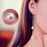 Sumanee Drop Bead Silver Plated Women Jewelry Fake Pearl Earrings Fashion Long Chain