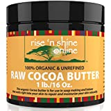 Raw Cocoa Butter (16 oz) with RECIPE EBOOK - Perfect for All Your DIY Home Recipes Like Soap Making, Lotion, Shampoo, Lip Balm & Hand Cream - Unrefined Organic Cacao Butter Good for Stretch Marks