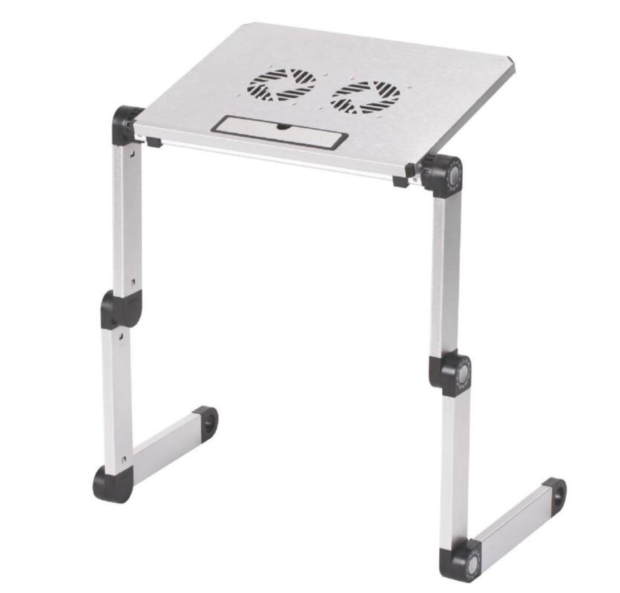 Laptop Table Aluminum Computer Desk Folding Table Bed Computer Tables Children 's Table Bed Bed Tray Gifts,White-OneSize