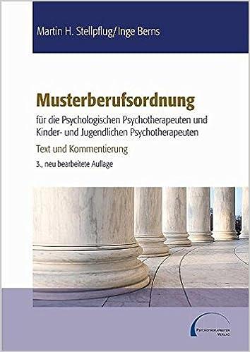Musterberufsordnung Für Die Psychologischen Psychotherapeuten Und