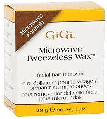 GiGi Microwave Tweezeless Wax 1 oz (Pack of 6)
